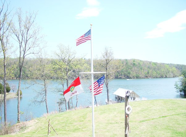Flags at Claytor Lake